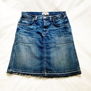 Madewell Released Hem Denim Skirt
